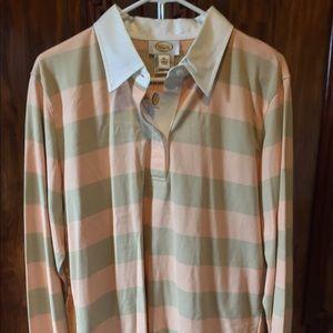 Striped long sleeve casual shirt